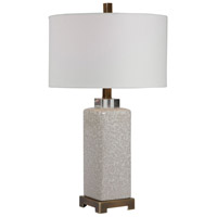 Uttermost 28346-1 Irie 30 inch 150 watt Crackled Taupe Table Lamp Portable Light