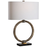 Uttermost 28371-1 Relic 26 inch 150.00 watt Antiqued Gold with Dark Bronze and Black Marble Table lamp Portable Light