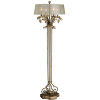 Alenya 65 inch 60 watt Burnished Gold Floor Lamp Portable Light