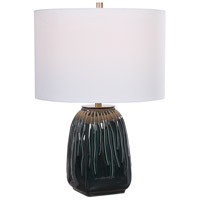 Uttermost 28442-1 Marimo 22 inch 150.00 watt Deep Teal Glaze with With Brushed Nickel Accents Table Lamp Portable Light