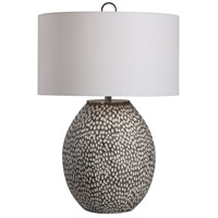 Uttermost 28448-1 Cyprien 27 inch 150.00 watt Brushed Rustic Gray and Crackled Gloss White Table Lamp Portable Light