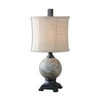 Calvene 22 inch 100 watt Rusty Stone Gray Table Lamp Portable Light