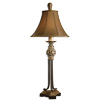 Uttermost Jenelle Buffet Table Lamp in Red Underlayer Covered 29091