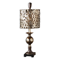 Alita 32 inch 100 watt Antiqued Silver Table Lamp Portable Light
