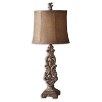 Uttermost Gia Buffet Table Lamp in Antiqued Light Brown 29156-1