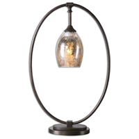 Uttermost 29181-1 Lemeta 25 inch 40 watt Plated Oxidized Bronze Table Lamp Portable Light