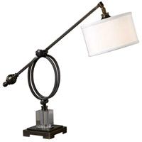 Uttermost 29207-1 Levisa 23 inch 100 watt Dark Bronze Desk Lamp Portable Light