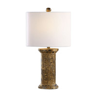 Latina 22 inch 100 watt Antiqued Gold Leaf Lamp Portable Light