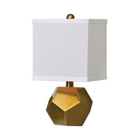 Uttermost Pentagon Cubes 1 Light Lamp in Antique Brush Brass 29228-2