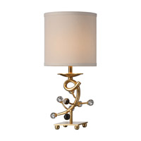 Bede 17 inch 60 watt Metallic Gold Table Lamp Portable Light