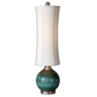 Uttermost 29287-1 Atherton 33 inch 100 watt Glossy Blue Ceramic Table Lamp Portable Light