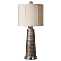 Nenana 28 inch 150 watt Nickel Plated Mesh Design Table Lamp Portable Light