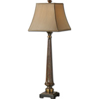 Uttermost Rittana 1 Light Table Lamp in Distressed Burnt Beige 29315