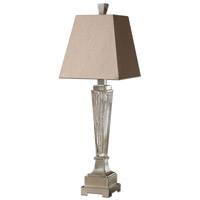 Uttermost Canino Mercury Glass Pillar Table Lamp in Mercury Glass 29325