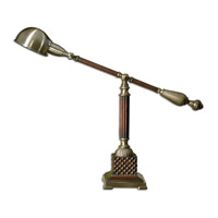 Uttermost Dalton Table Lamp in Burnished Wood Tone 29425-1