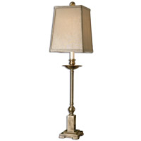 Uttermost 29427-1 Lowell 34 inch 100 watt Lightly Aged Bronze Table Lamp Portable Light