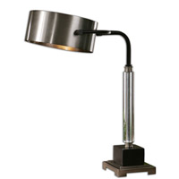 Belding 23 inch 100 watt Antiqued Brushed Aluminum Desk Lamp Portable Light