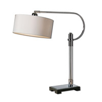 Uttermost Adara 1 Light Desk Lamp in Chrome 29499-1