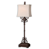 Cubero 38 inch 100 watt Distressed Rust Brown Table Lamp Portable Light