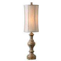 Uttermost Corinaldo Table Lamp in Bleached Solid Wood Turning 29541