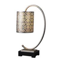 Uttermost Faleria Table Lamp in Lightly Antiqued Silver Leaf 29542-1