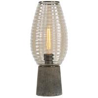 Uttermost 29565-1 Alvarium 20 inch 100 watt Antiqued Brass and Concrete Hurricane Lamp Portable Light