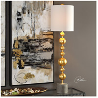 Uttermost 29566-1 Selim 40 inch 150 watt Metallic Gold Leaf and Charcoal Stained Concrete Buffet Lamp Portable Light alternative photo thumbnail