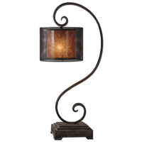 Uttermost Dalou Scroll Lantern Table Lamp in Dark Bronze 29572-1