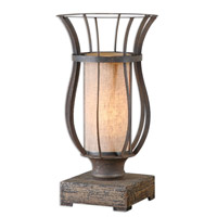 Uttermost 29573-1 Minozzo 18 inch 40 watt Bronze Accent Lamp Portable Light
