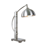Malcolm 28 inch 100 watt Brushed Nickel Desk Lamp Portable Light