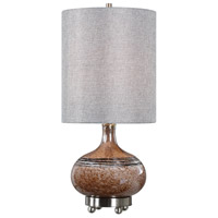Judsonia 27 inch 100 watt Rust Glass Table Lamp Portable Light
