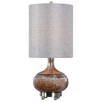Uttermost 29610-1 Judsonia 27 inch 100 watt Rust Glass Table Lamp Portable Light