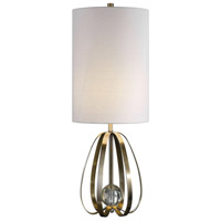 Avola 30 inch 150 watt Antique Brushed Nickel Table Lamp Portable Light
