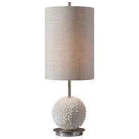 Uttermost 29613-1 Cascara 24 inch 100 watt Brushed Nickel Table Lamp Portable Light