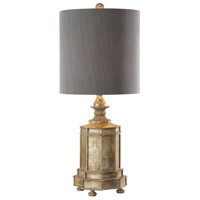 Falerone 32 inch 150 watt Golden Champagne with Silver Undertones Table Lamp Portable Light