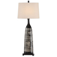 Uttermost 29617-1 Kanza 38 inch 150 watt Gloss Black Table Lamp Portable Light