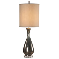 Uttermost 29624-1 Meara 37 inch 150 watt Metallic Bronze and Crystal Table Lamp Portable Light