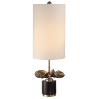 Uttermost 29627-1 Sterculia 26 inch 100 watt Antique Golden Champagne and Black Marble Table Lamp Portable Light