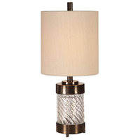 Uttermost Dark Bronze Glass Table Lamps