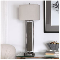 Uttermost 29678-1 Sakana 38 inch 150 watt Rubbed Gray Faux Shagreen and Polished Nickel Buffet Lamp Portable Light 29678-1_A1.jpg thumb
