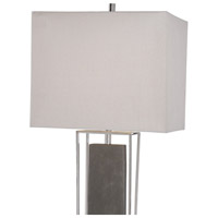 Uttermost 29678-1 Sakana 38 inch 150 watt Rubbed Gray Faux Shagreen and Polished Nickel Buffet Lamp Portable Light 29678-1_A2.jpg thumb