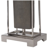 Uttermost 29678-1 Sakana 38 inch 150 watt Rubbed Gray Faux Shagreen and Polished Nickel Buffet Lamp Portable Light 29678-1_A3.jpg thumb