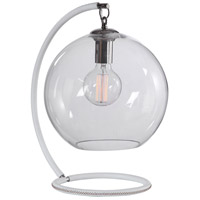 Uttermost 29696-1 Eissa 18 inch 40 watt White Accent Lamp Portable Light