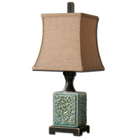 Uttermost Petrella 1 Light Table Lamp in Crackled Light Blue Glaze 29726 thumb