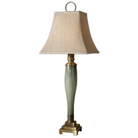Uttermost Jaida Table Lamp in Blue Green Glass 29764