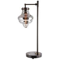 Uttermost 29784-1 Hawking 27 inch 60.00 watt Dark Oxidized Bronze and Black Marble Accent Lamp Portable Light