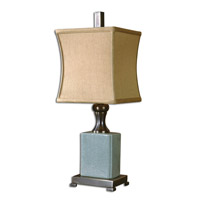 Uttermost Bernadette Table Lamp in Pale Blue Crackled Porcelain 29827-1 photo thumbnail