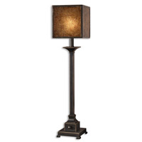 Meora 33 inch 60 watt Lightly Distressed Rustic Bronze Metal Table Lamp Portable Light