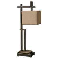 Uttermost Porano Desk 1 Light Table Lamp in Dark Bronze 29923-1