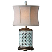 Uttermost Rosignano 1 Light Table Lamp in Crackled Aged Blue 29925-1